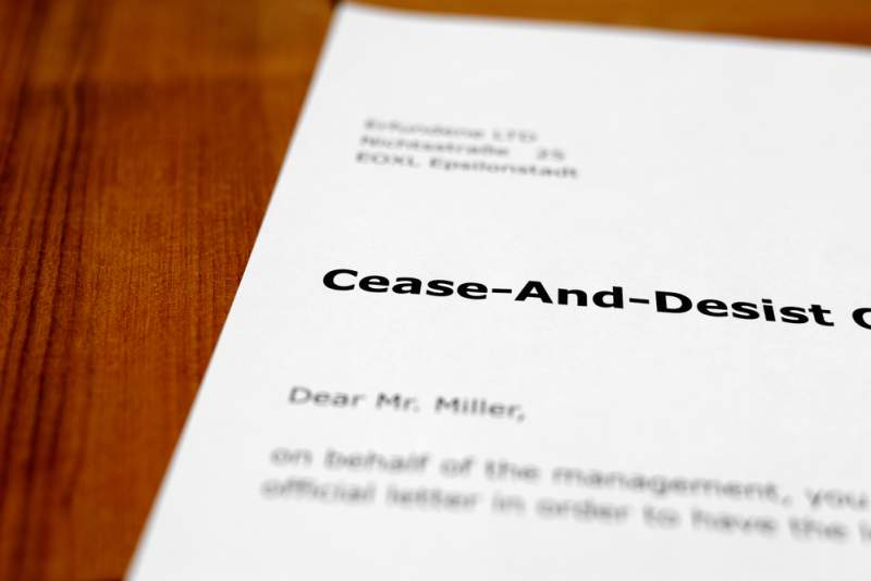 Cease And Desist Letters